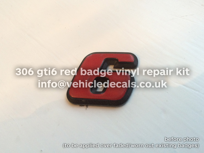 red 6 badge repair kit - Parts For Sale Forum - Peugeot 306 GTi-6