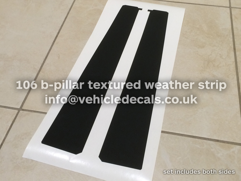 B Pillar Decals