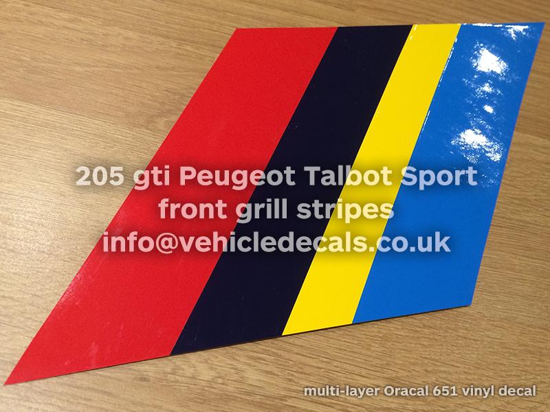 peugeot 205 rallye pts peugeot talbot sport grill stripes vehicle decals uk. Black Bedroom Furniture Sets. Home Design Ideas